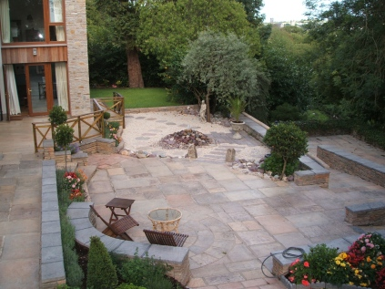 Large rear garden patio